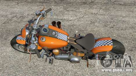GTA 5 Harley-Davidson Fat Boy Lo Racing Bobber v1.2 vista trasera
