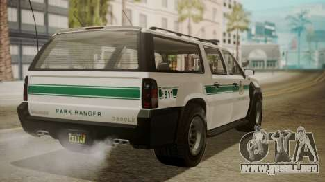 GTA 5 Declasse Granger Park Ranger IVF para GTA San Andreas left