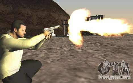 GTA 5 Tec-9 para GTA San Andreas quinta pantalla