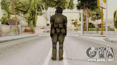 MGSV Ground Zero MSF Soldier para GTA San Andreas tercera pantalla