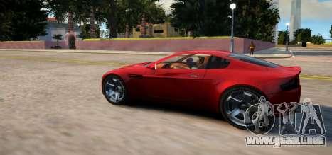 Aston Martin DB9 Vice City Deluxe para GTA 4 Vista posterior izquierda