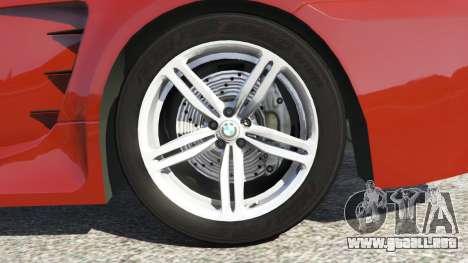 GTA 5 BMW M6 (E63) vista lateral trasera derecha