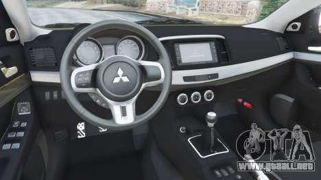 GTA 5 Mitsubishi Lancer Evolution X FQ-400 volante