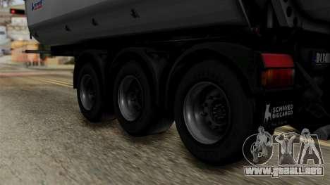 Schmied Bigcargo Solid Trailer Stock para GTA San Andreas vista posterior izquierda