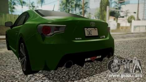 Toyota GT86 2012 para la vista superior GTA San Andreas