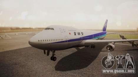 Boeing 747SR All Nippon Airways (NC) para GTA San Andreas left