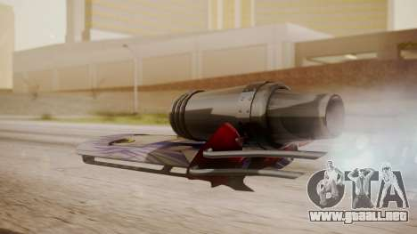Hovercraft Anime para GTA San Andreas left