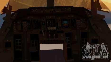 Boeing 747-100 United Airlines Friend Ship para GTA San Andreas vista hacia atrás