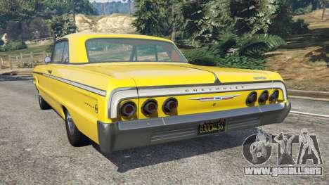 GTA 5 Chevrolet Impala SS 1964 vista lateral izquierda trasera