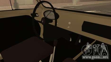 Vespa 400 1958 para la visión correcta GTA San Andreas