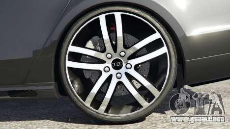 GTA 5 Audi A8 vista lateral trasera derecha