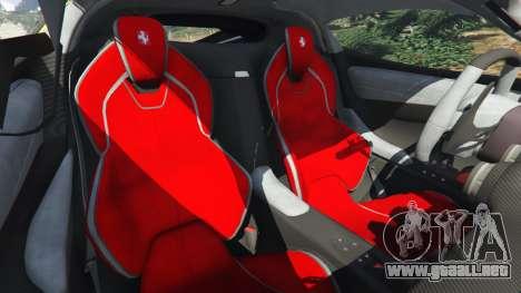 GTA 5 Ferrari LaFerrari 2013 v3.0 delantero derecho vista lateral