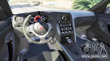 GTA 5 Nissan GT-R (R35) [RocketBunny] delantero derecho vista lateral