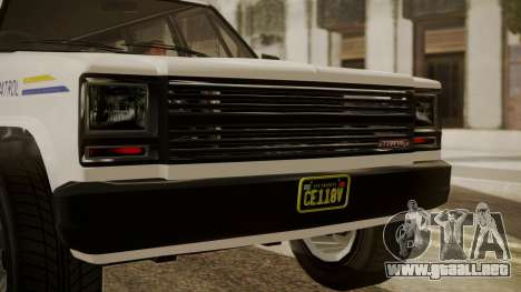 GTA 5 Declasse Rancher XL Police IVF para GTA San Andreas vista hacia atrás
