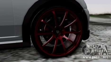Mini Cooper S Weeny Issi para GTA San Andreas vista posterior izquierda