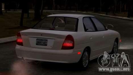 Daewoo Nubira II Sedan SX USA 2000 para GTA 4 visión correcta