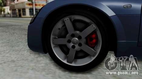 Opel Speedster Turbo 2004 Stock para GTA San Andreas vista posterior izquierda