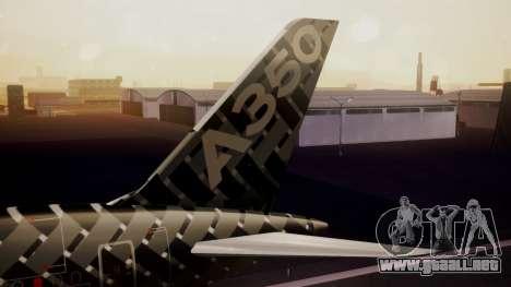 Airbus 350-900XWB MSN2 Carbon Livery para GTA San Andreas vista posterior izquierda