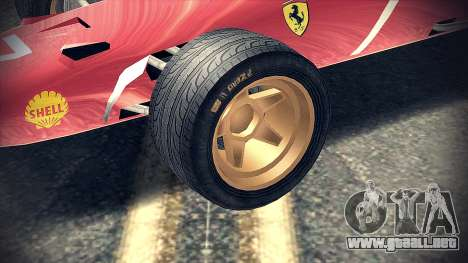 Ferrari 312 F1 para la visión correcta GTA San Andreas