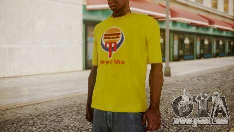 Burger Shot T-shirt Yellow para GTA San Andreas segunda pantalla