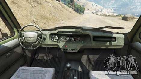 GTA 5 UAZ-3159 bares v2.0 vista lateral trasera derecha