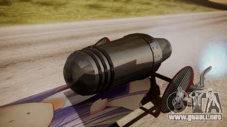 Hovercraft Anime para GTA San Andreas vista posterior izquierda