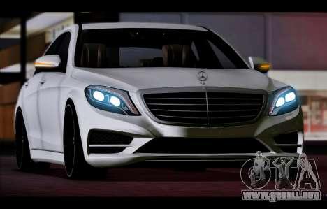 Mercedes Benz S63 W222 Artículos De Calidad para GTA San Andreas left