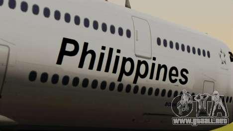 Boeing 747-8I Philippine Airlines para GTA San Andreas vista hacia atrás