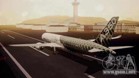 Airbus 350-900XWB MSN2 Carbon Livery para GTA San Andreas left