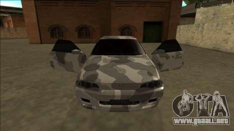 Nissan Skyline R32 Army Drift para visión interna GTA San Andreas