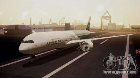 Airbus 350-900XWB MSN2 Carbon Livery para GTA San Andreas