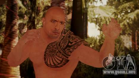 WWE 2K15 The Rock para GTA San Andreas