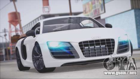 Audi R8 GT 2012 Sport Tuning V 1.0 para el motor de GTA San Andreas