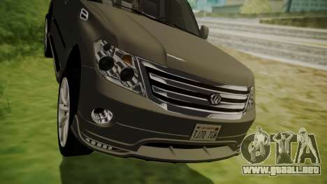 Nissan Patrol IMPUL 2014 para visión interna GTA San Andreas