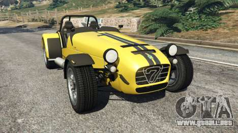 Caterham Super Seven 620R v1.5 [yellow] para GTA 5