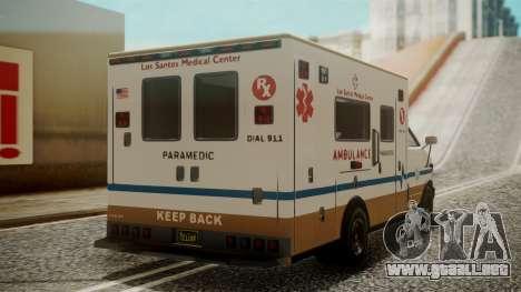 GTA 5 Brute Ambulance para GTA San Andreas left