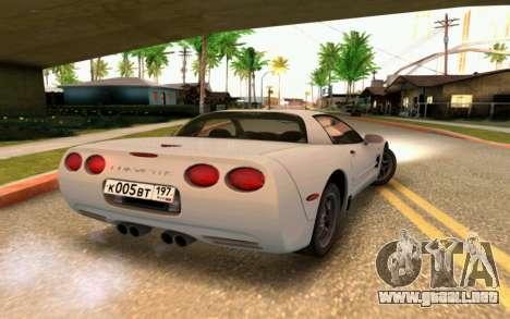 Chevrolet Corvette C5 2003 para vista lateral GTA San Andreas
