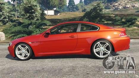GTA 5 BMW M6 (E63) Tunable v1.0 vista lateral izquierda