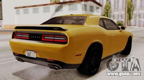 Dodge Challenger SRT Hellcat 2015 IVF PJ para GTA San Andreas left