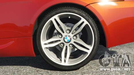 GTA 5 BMW M6 (E63) Tunable v1.0 vista lateral trasera derecha