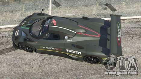 GTA 5 Pagani Zonda R 2009 v0.5 vista trasera