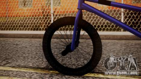 Nueva BMX para GTA San Andreas vista posterior izquierda