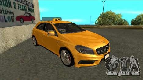 Mercedes-Benz A45 AMG Taxi 2012 para GTA San Andreas left