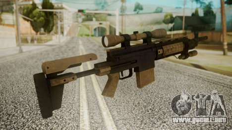 Sniper Rifle from RE6 para GTA San Andreas segunda pantalla