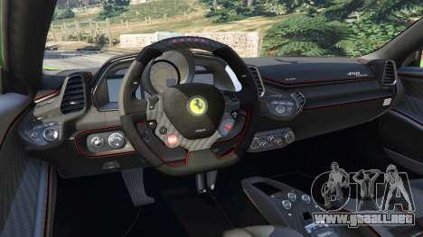 Ferrari 458 Italia 2009 v1.6 para GTA 5