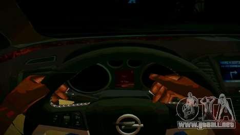 Opel Insignima SCREAM para visión interna GTA San Andreas