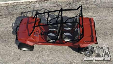 GTA 5 Polaris RZR 4 v1.15 vista trasera