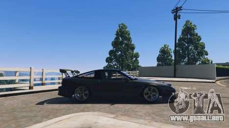 GTA 5 Nissan 180sx vista lateral izquierda