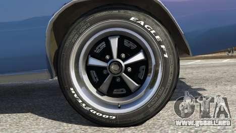 GTA 5 Dodge Charger RT 1970 v3.0 vista trasera