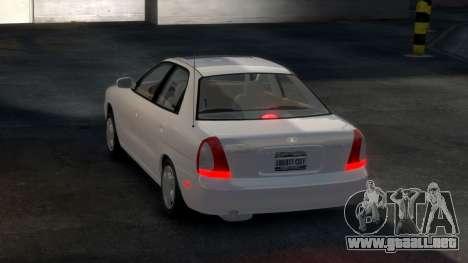 Daewoo Nubira I Sedan SX USA 1999 para GTA 4 visión correcta